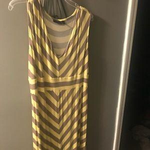 Apt 9 dress with yellow/tan chevron XL